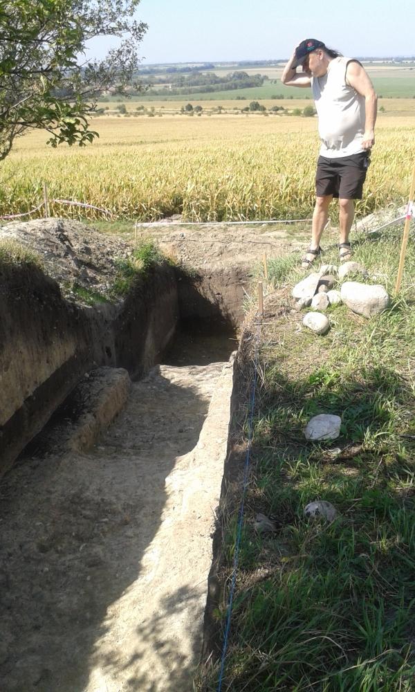 Mušov, římské vykopávky, 2015